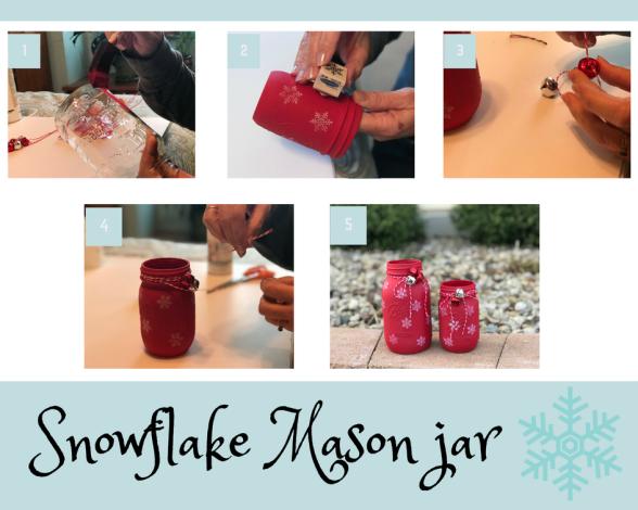 snowflake mason jar