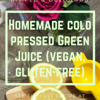 Homemade Green Pressed Juice (vegan, gluten-free​)
