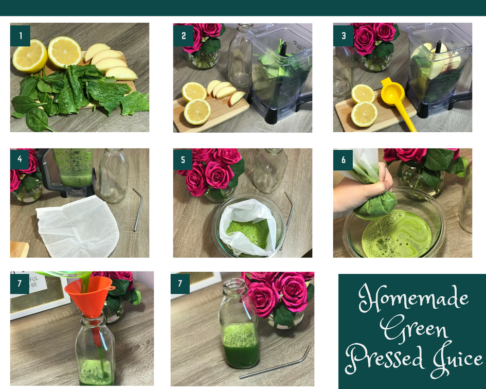 homemade pressed green juice (vegan, gluten free)