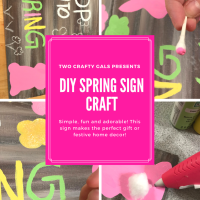 How to make a Faux Wood Spring Bunny Sign